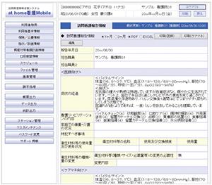 訪問看護計画・報告情報登録